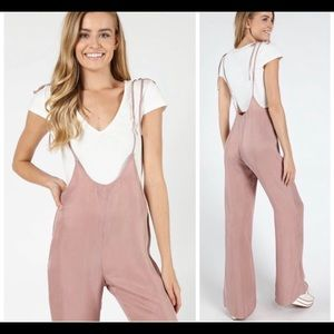 Dusty Pink Overall Jumpsuit